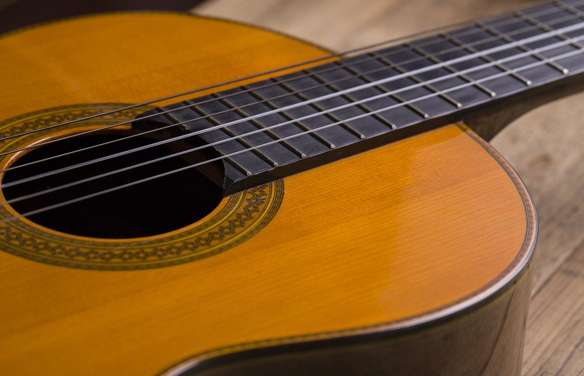 Music Teachers| Close-up of classical guitar strings